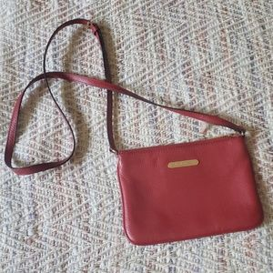 MICHAEL KORS Red Leather Crossbody Bag